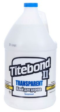 Клей TITEBOND II TRANSPARENT PREMIUM WOOD GLUE влагостойкий 3,78 л 1126